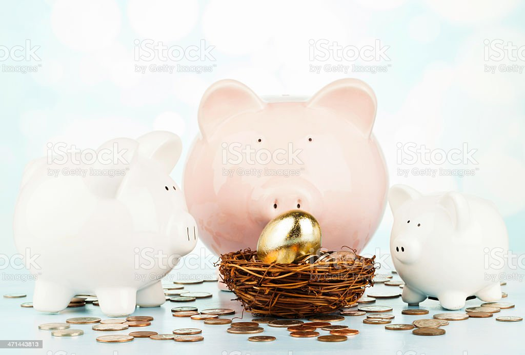 Protecting Your Nest Egg stock photo