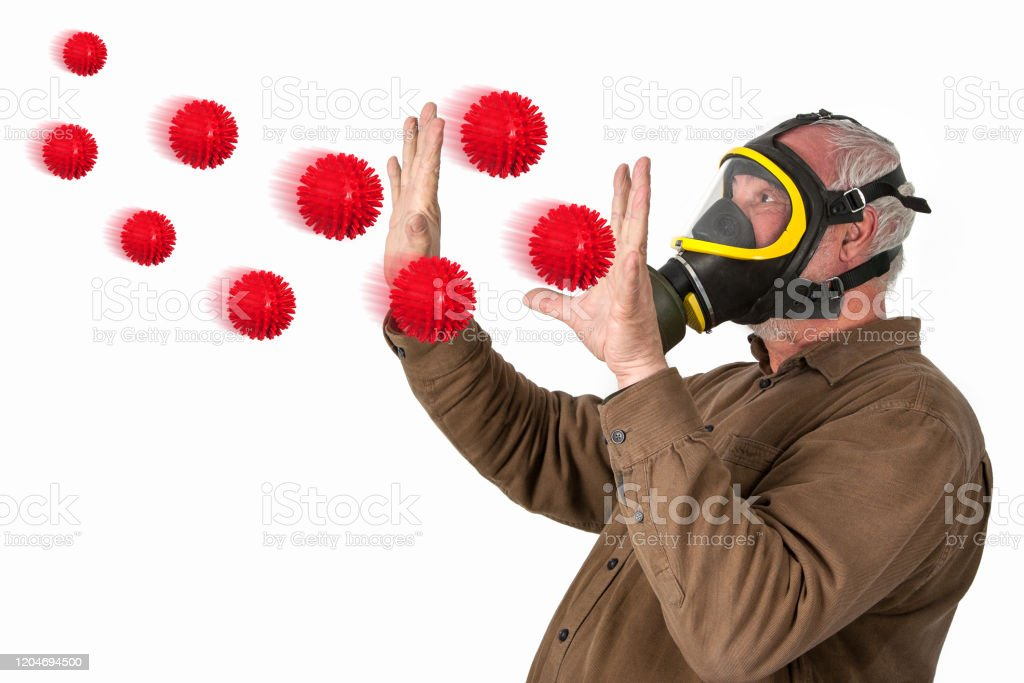 Protection against flu viruses. - Royalty-free Adult Stock Photo