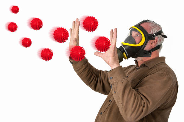 Protection against flu viruses. stock photo