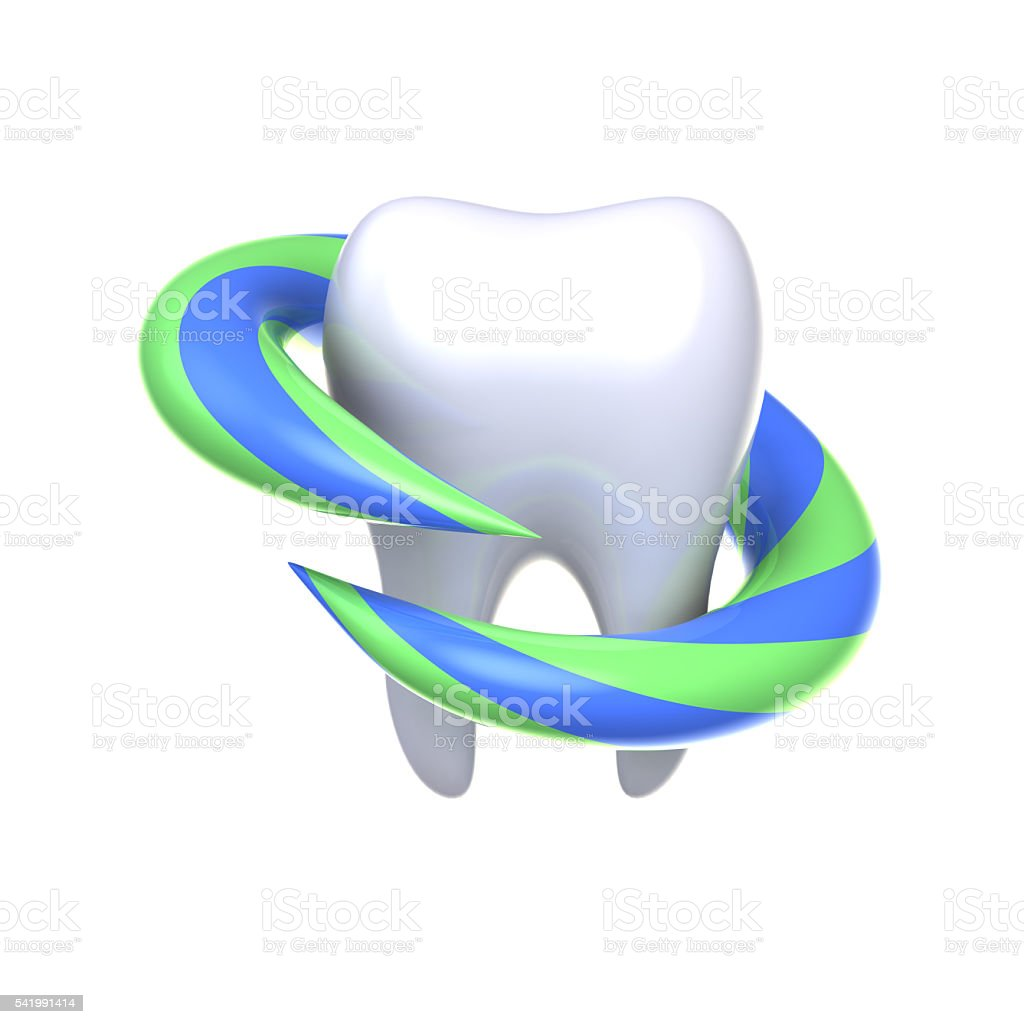 Protection and health of teeth. stock photo