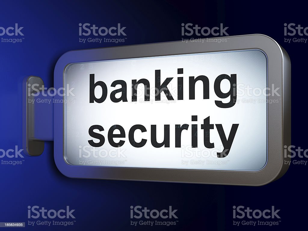 Protection concept: Banking Security on billboard background royalty-free stock photo