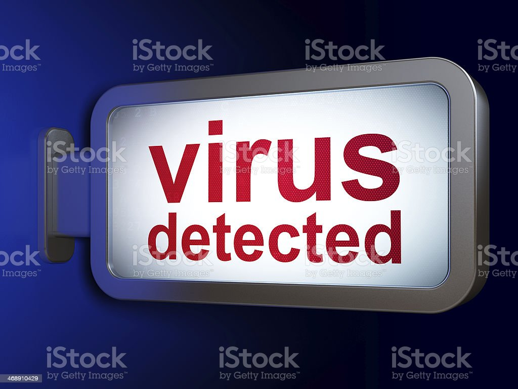Protection concept: Virus Detected on billboard background royalty-free stock photo