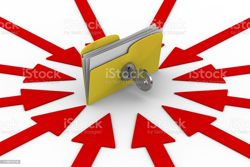 Protection data against breaking. Isolated 3D image royalty-free stock photo
