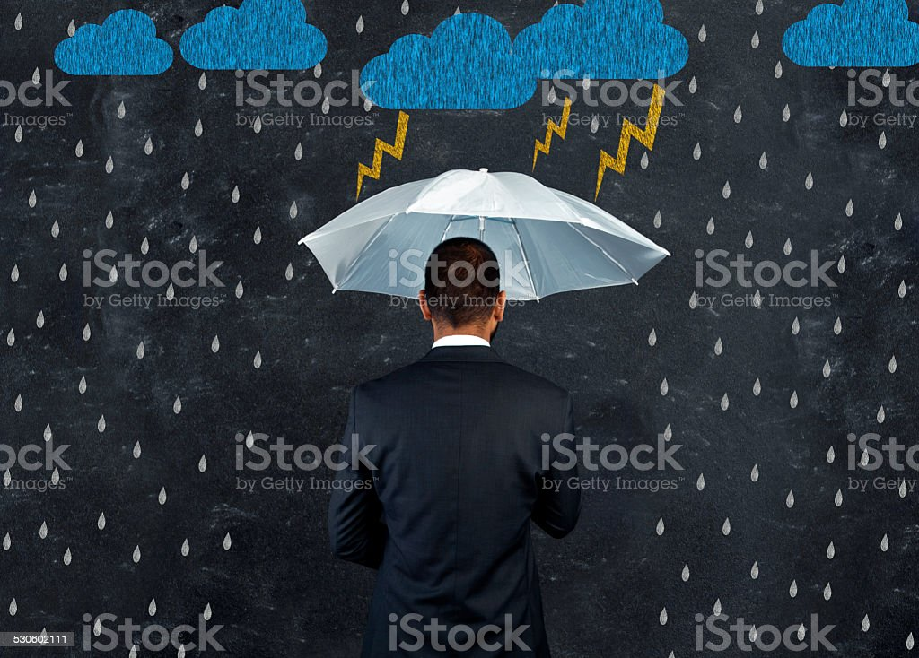 Protection from economic crisis stock photo