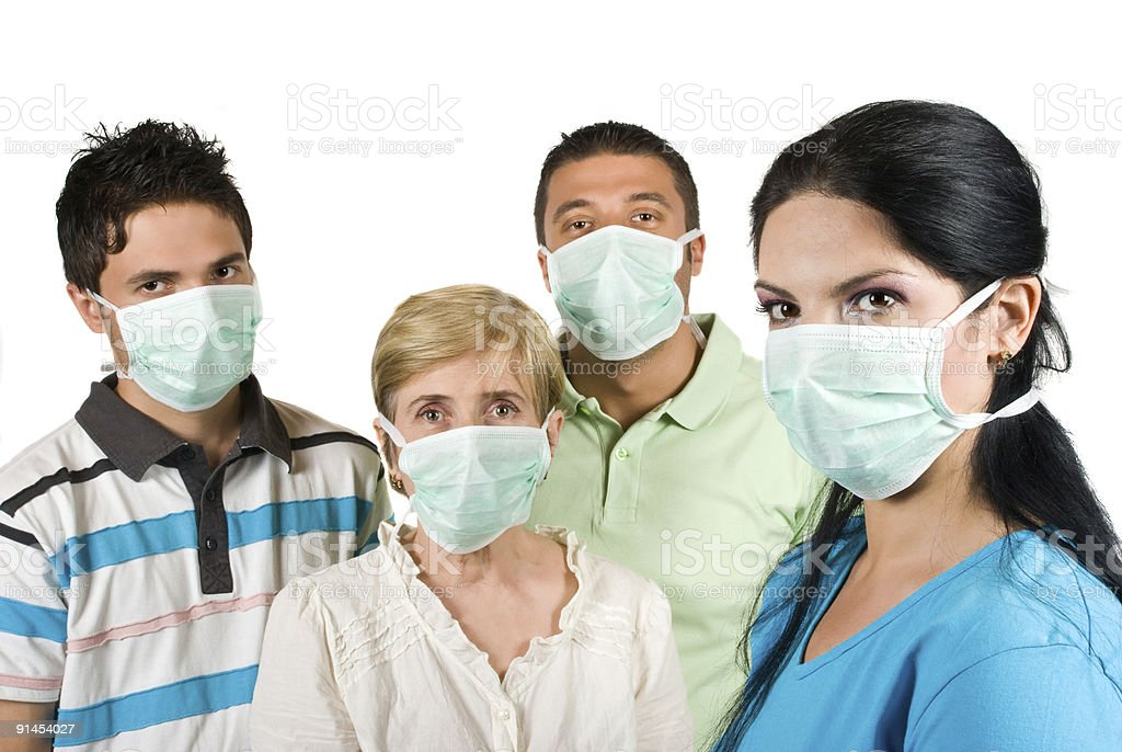 Protection from flu royalty-free stock photo