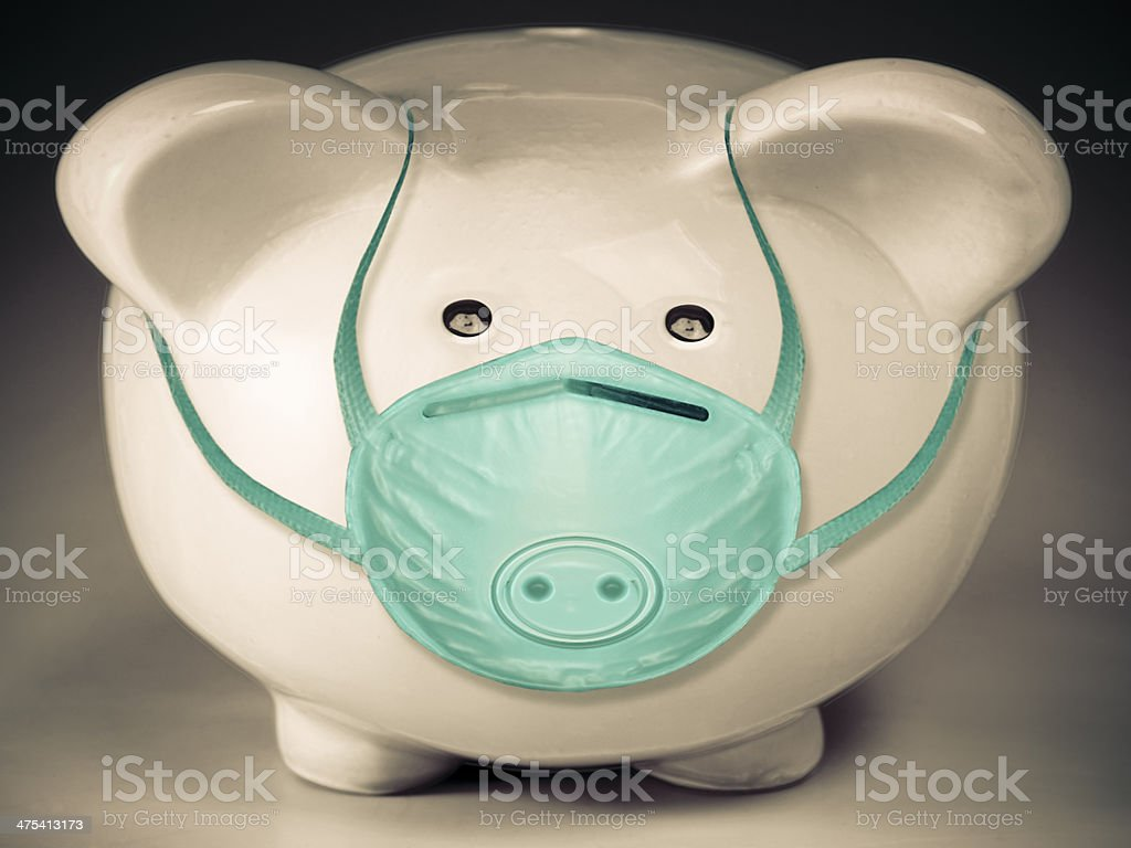Protection from Swine flu, Concept stock photo