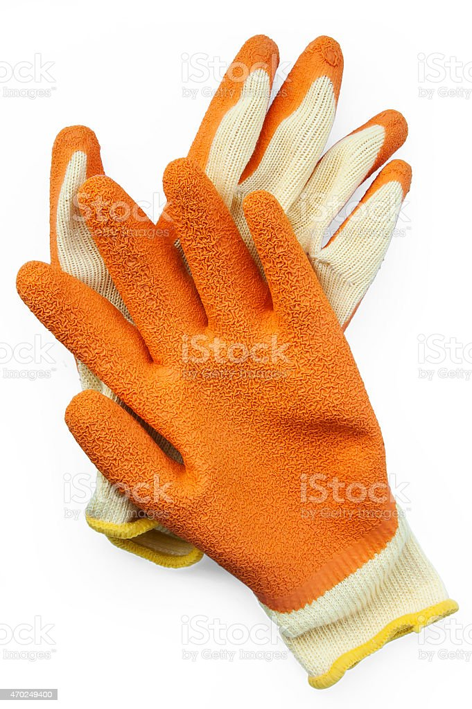 Protection grip gloves stock photo