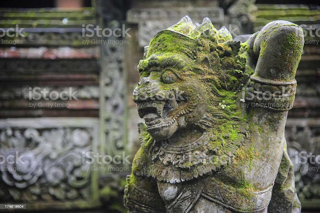 Protection guard made of stone in bali royalty-free stock photo