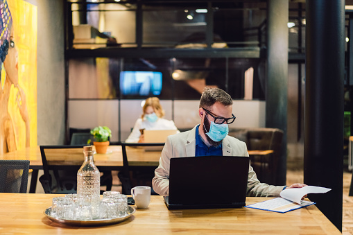 istock Protection in the office during COVID-19 pandemic 1212555850