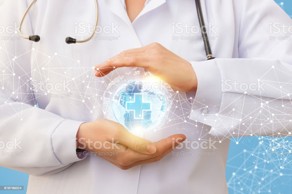Protection of the medical network. stock photo