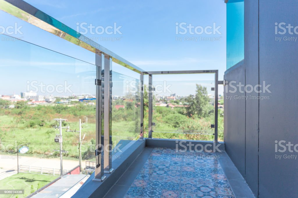 Protection tempered glass stock photo