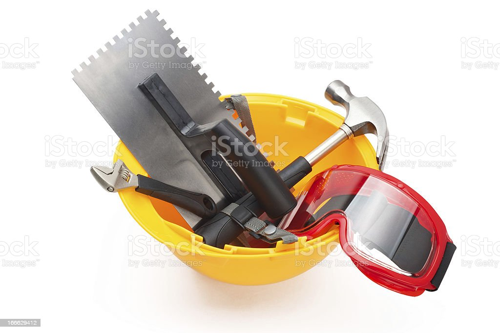 Protection Tools on helmet royalty-free stock photo