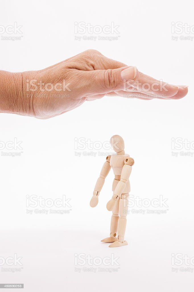 protection with hand stock photo