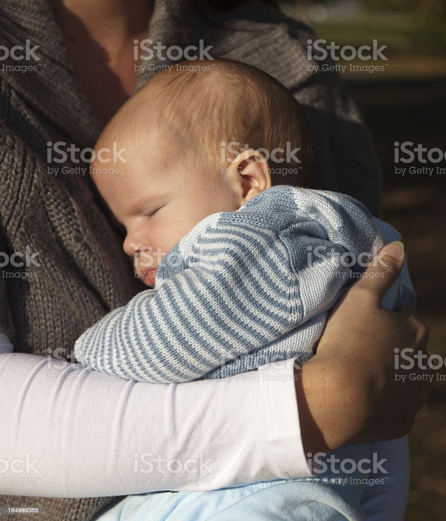 Protective Clasp of a Mother royalty-free stock photo