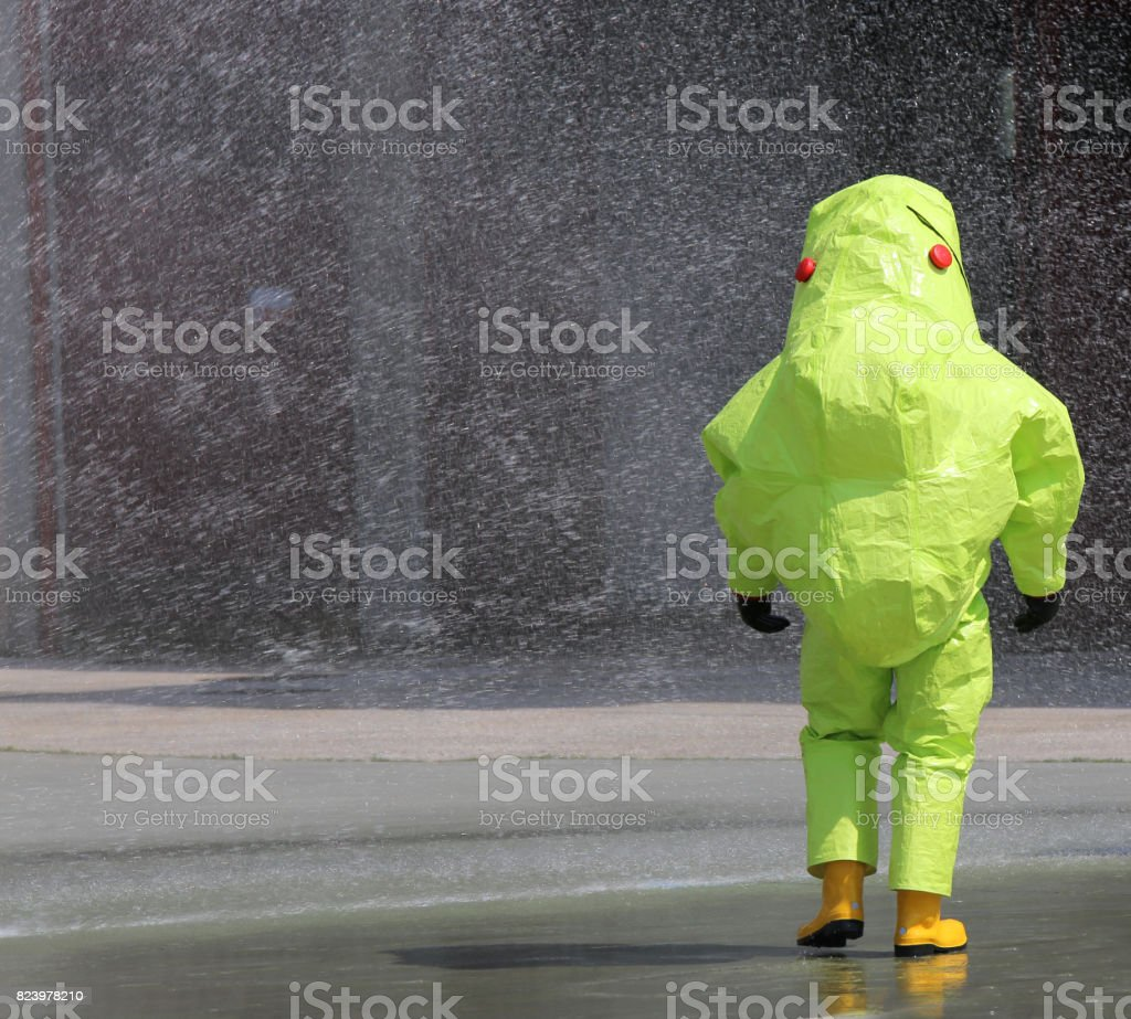 protective clothing against chemical and biological agents durin stock photo