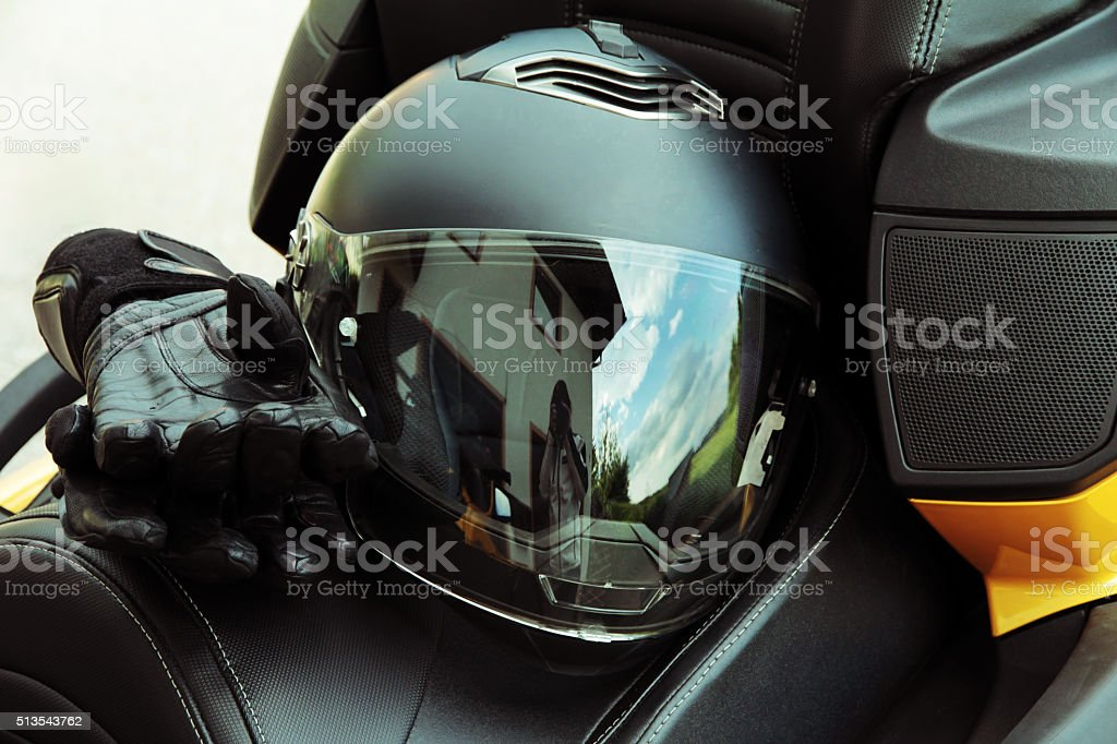 Protective clothing and safety in motorsport. Motorcycle helmet and...