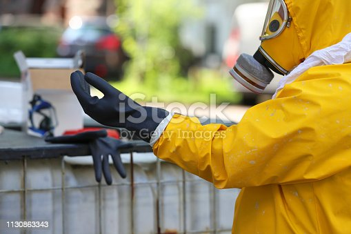 yellow protective clothing