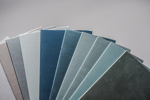 istock Protective coating of aluminum. Anodized aluminum for building profiles 1183213521