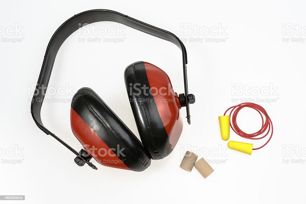 Protective Ear equipment stock photo