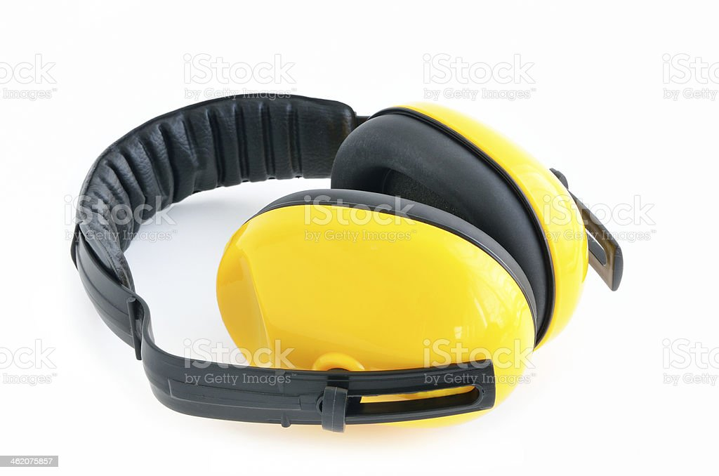 Protective earmuffs stock photo