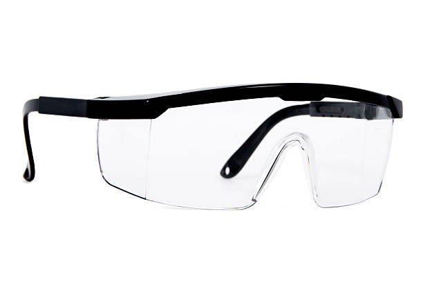 Protective Eyewear Safety Glasses Isolated on White Background protective eyewear stock pictures, royalty-free photos & images