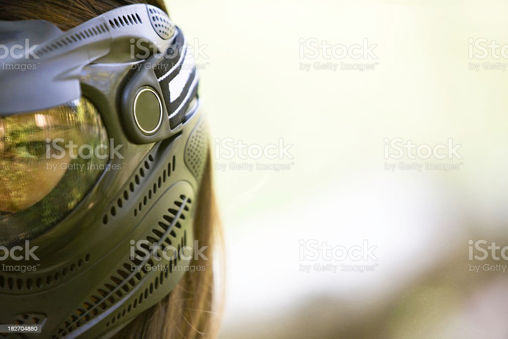 Protective face mask stock photo