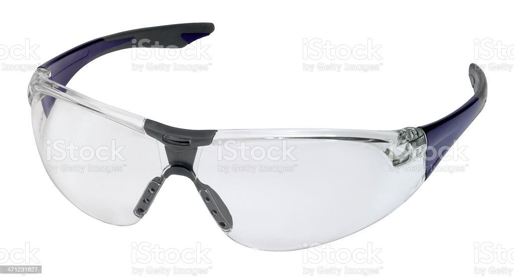 Protective glasses on white background  royalty-free stock photo