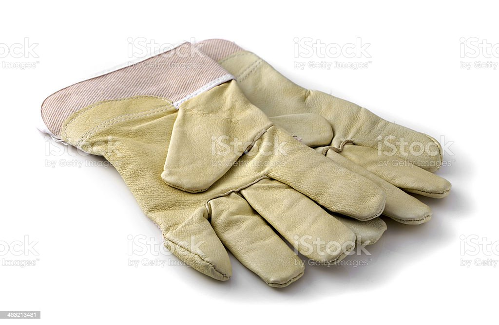 Protective gloves on white stock photo