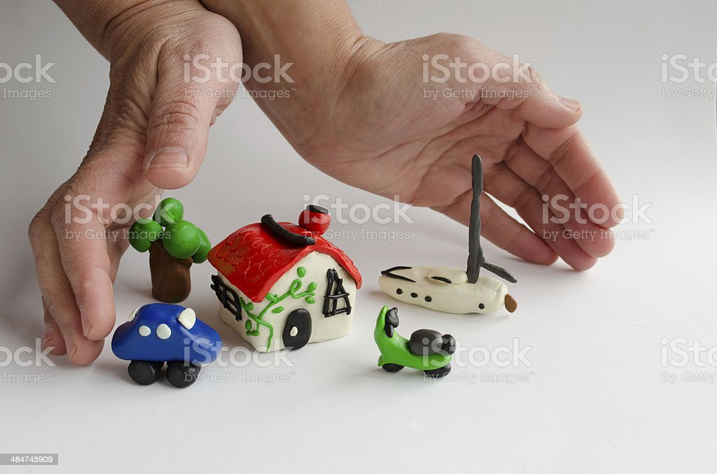 Protective Hands stock photo