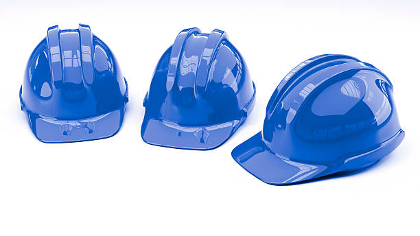 protective helmet on white background with copy space – Foto