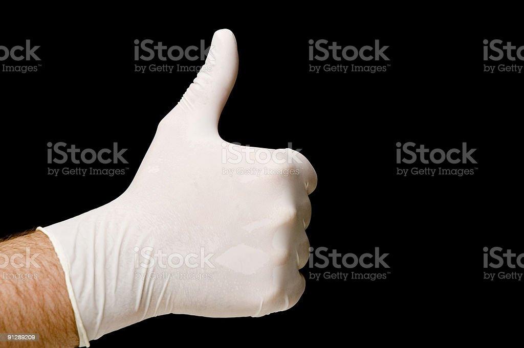 Protective latex glove royalty-free stock photo