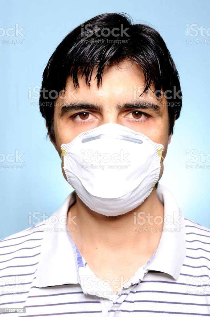 Protective mask stock photo