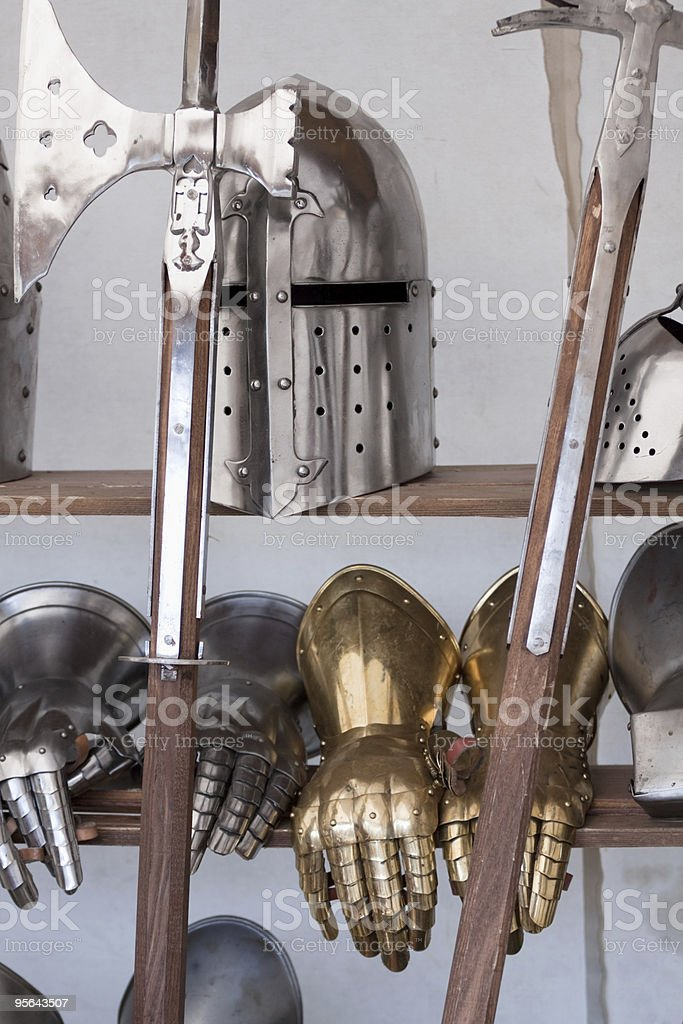 Protective medieval weapons royalty-free stock photo