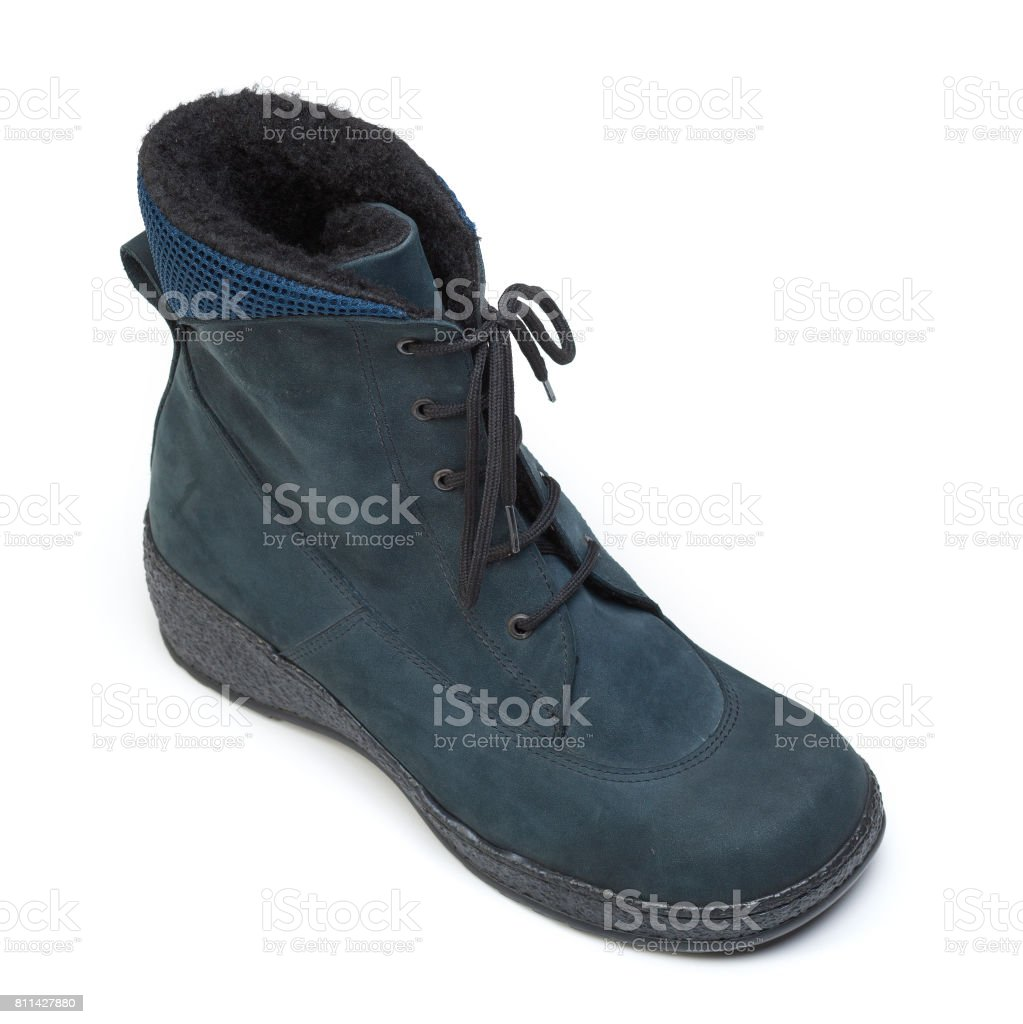Protective nappa leather shoes isolated on white stock photo