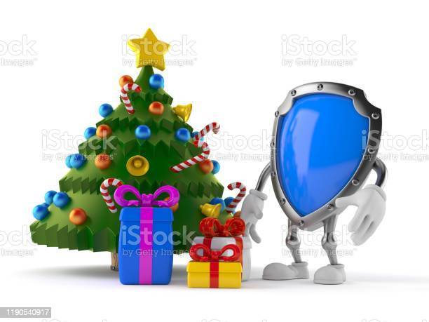 Protective shield character with christmas tree and gifts picture id1190540917?b=1&k=6&m=1190540917&s=612x612&h=5wafvulsk6 5zgwpcagz9kxuniod8bepaelx2sylwqq=