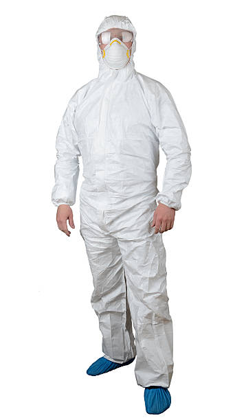 protective suit - white suit stock photos and pictures