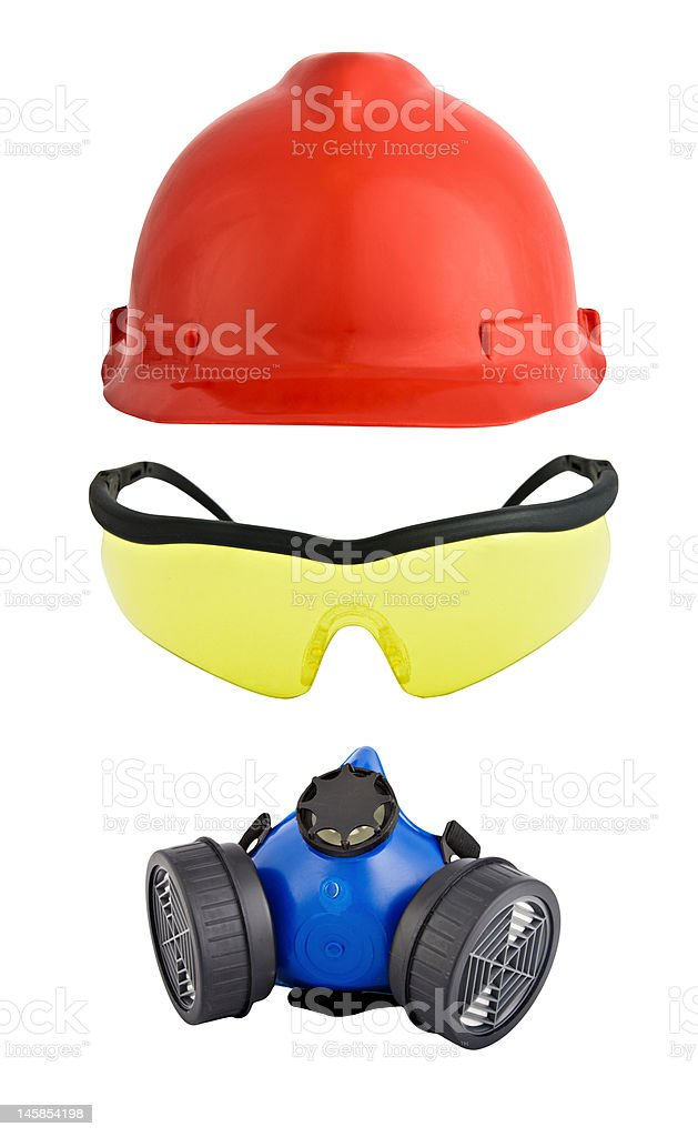 Protective work equipment stock photo