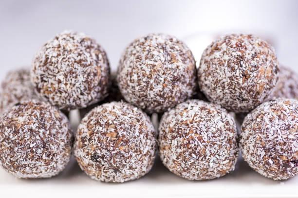 Protein Balls stock photo