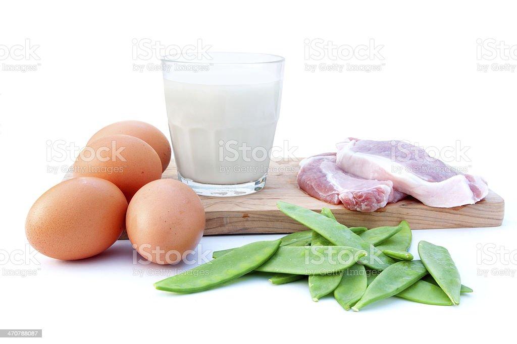 Protein diet stock photo
