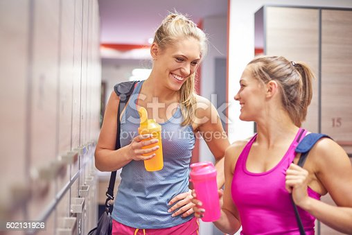 istock Protein drink is best after the training 502131926