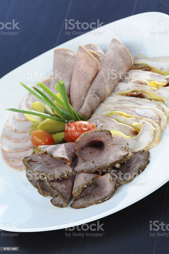 Protein platter royalty-free stock photo