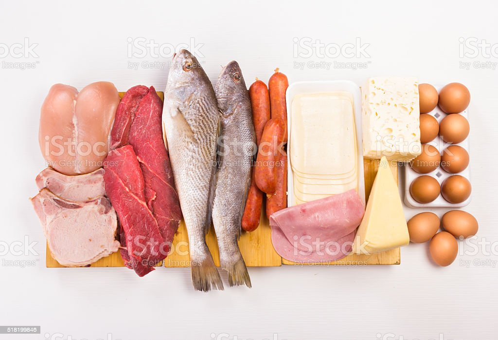 Proteins stock photo