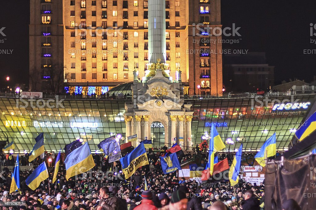 Protest against 'Dictatorship' in Ukraine royalty-free stock photo