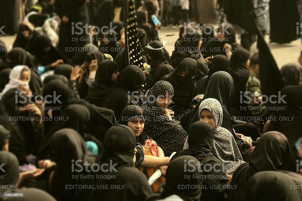 Protest against Shia Muslims Genocide at Karachi stock photo