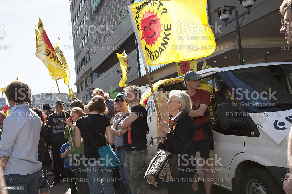 protest against use of nuclear enegy royalty-free stock photo