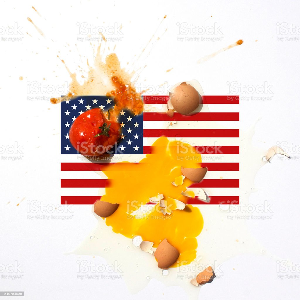 Protest Attack to USA stock photo