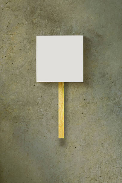 Protest blank sign stock photo