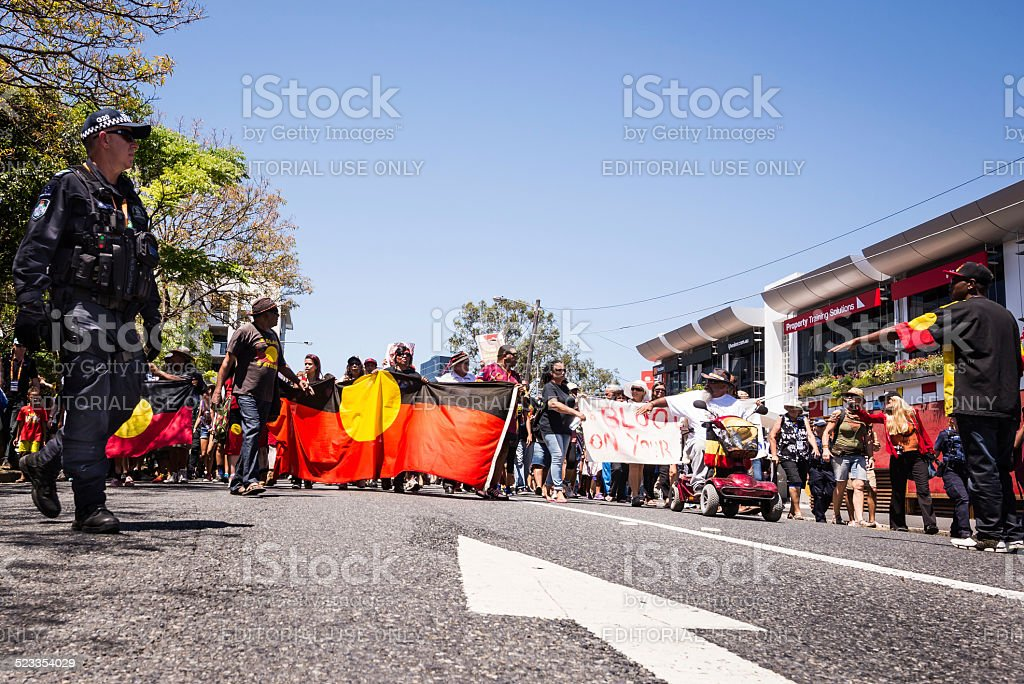 G20 Protest, Brisbane, Australia stock photo