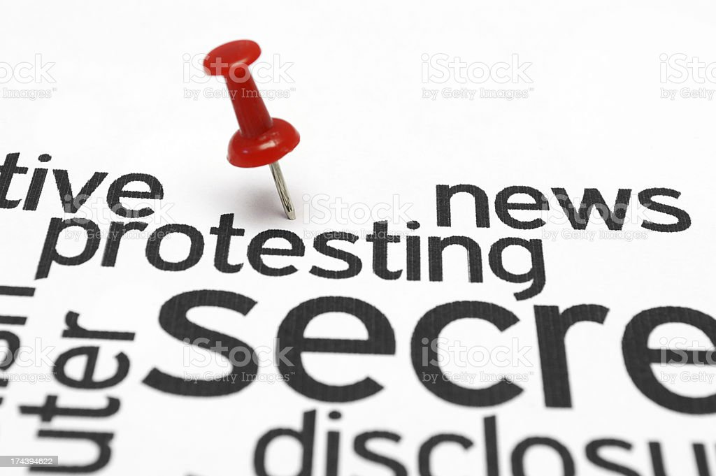 Protest concept royalty-free stock photo
