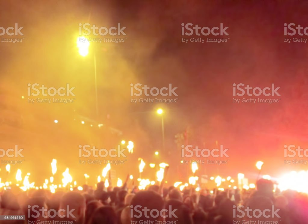 Protest in Athens stock photo